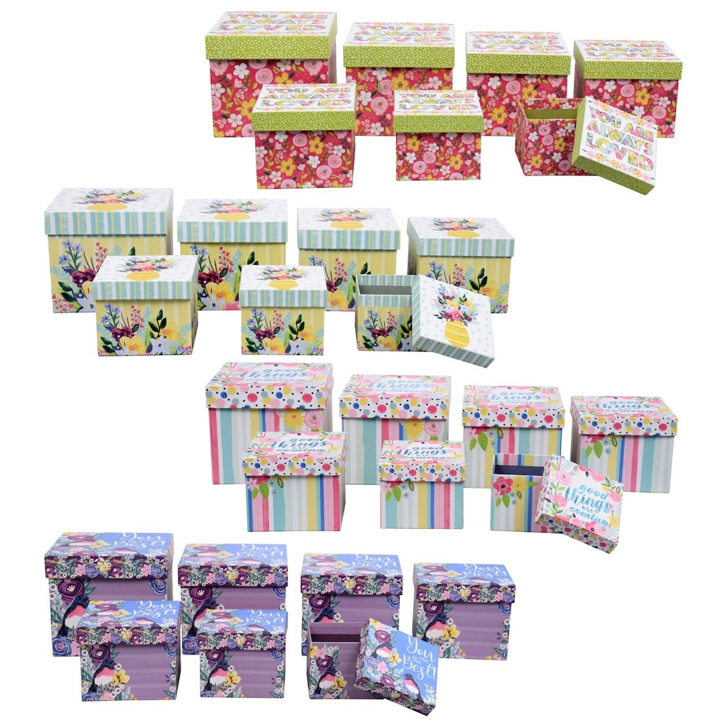 97218dfe65c Voila Summery Square Nesting Gift Boxes