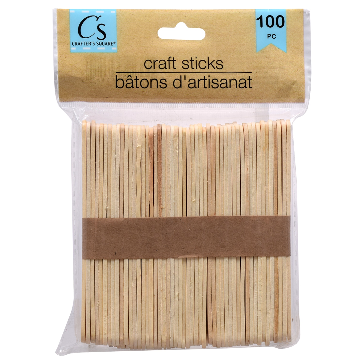 4.5 Colored Wooden Craft Sticks Pack of 100ct