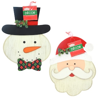 259897 christmas house mdf santa and snowman wall decorations