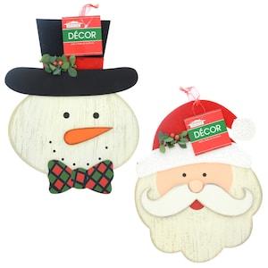 259897 christmas house mdf santa and snowman wall decorations