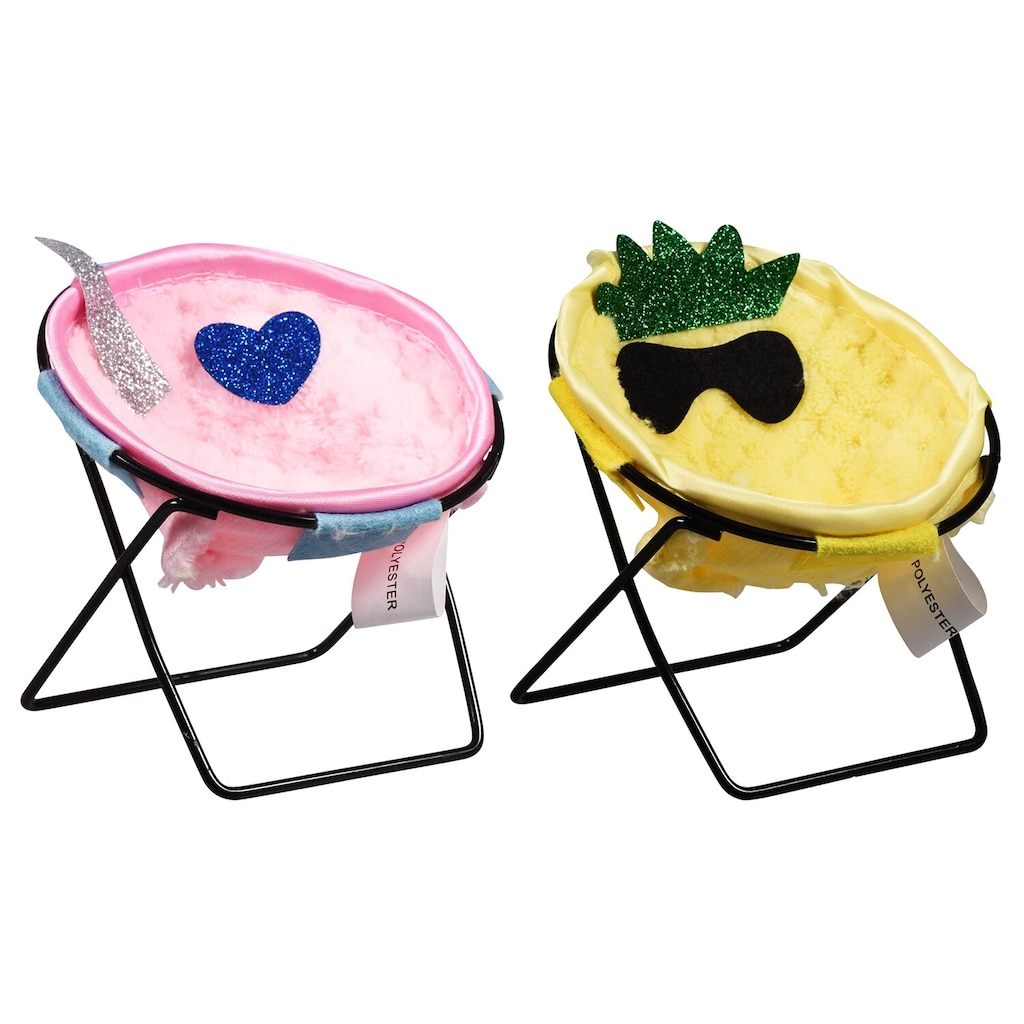 Colorful Polyester Chair Phone Stands, 4x4x3 75 in