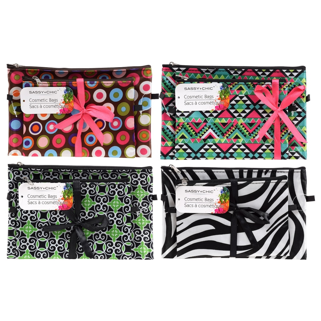 31e1a579d5 Sassy + Chic Zippered Cosmetic Bags