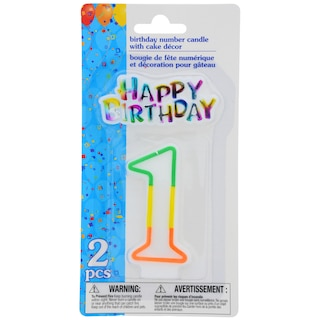 View Number 1 Birthday Candles With