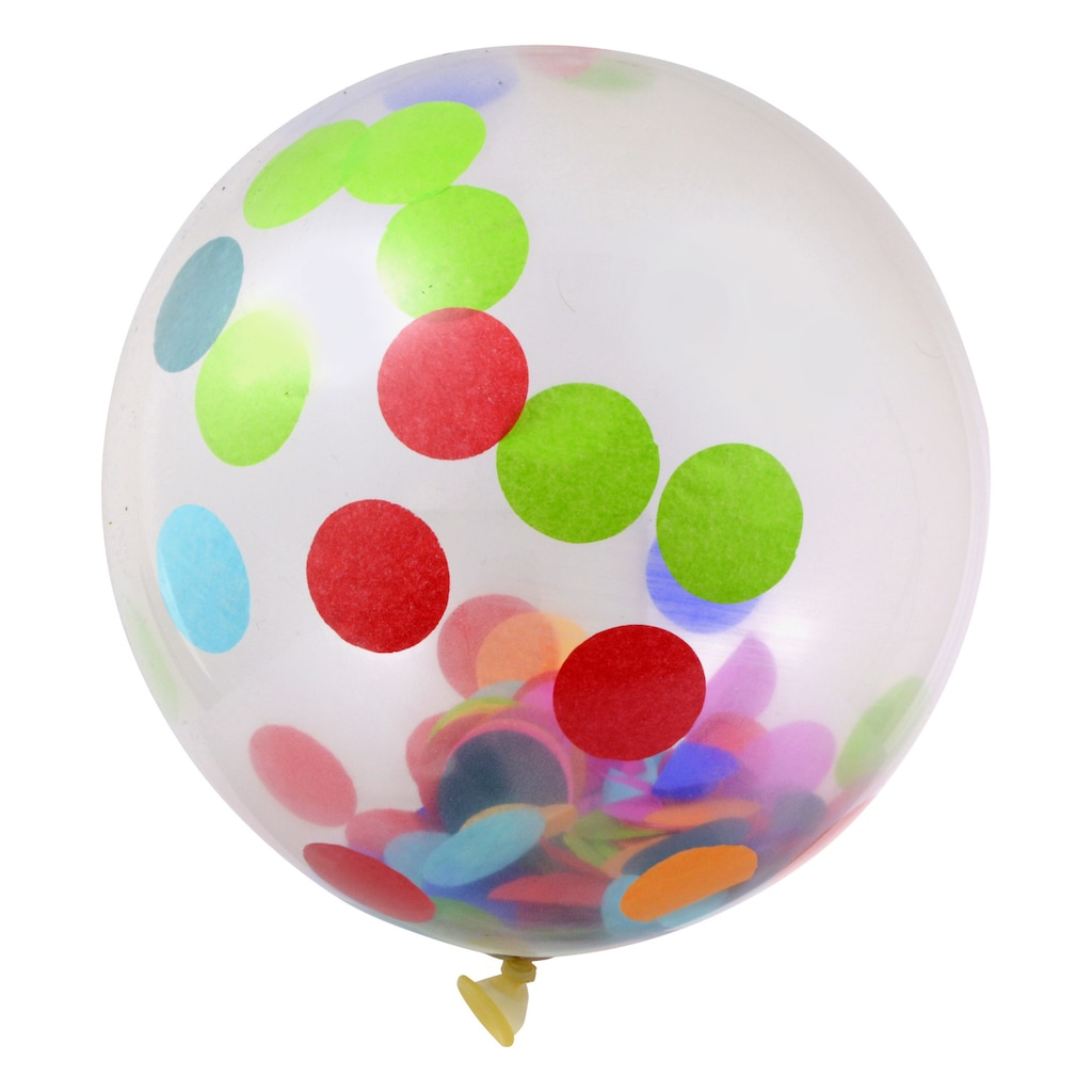 Colorful Confetti Latex Balloons 6 Ct Packs
