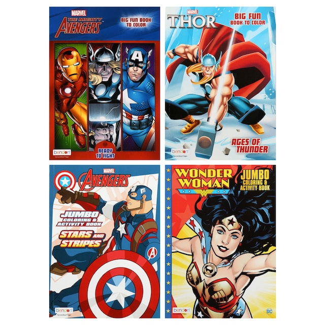 Dollartree Com Bulk Bulk Bendon Superhero Jumbo Coloring Books