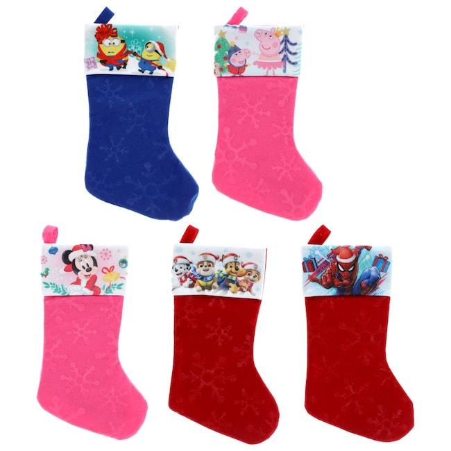 snowflake embossed licensed character christmas stockings 18 in