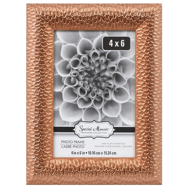 Dollartree Special Moments Rose Gold Plastic Photo Frames 4 X