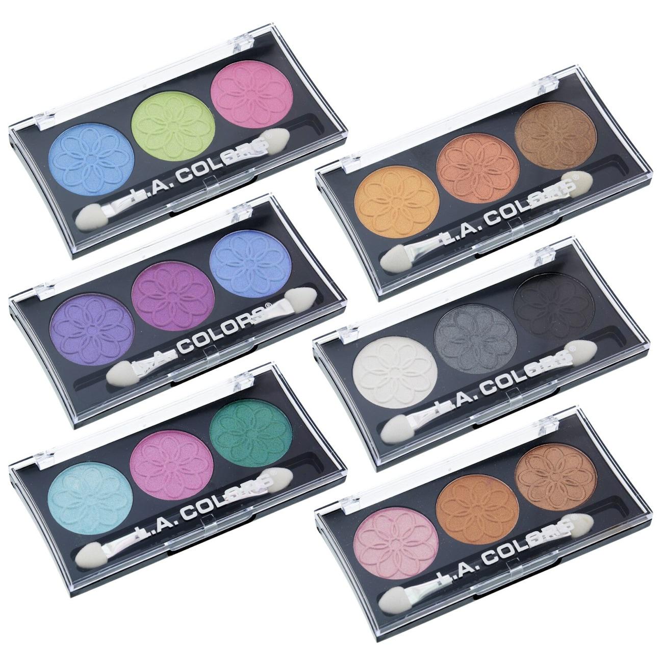 La Colors Dollar Tree Inc 5 Color Matte Eyeshadow Palette Professional Series 3 Palettes