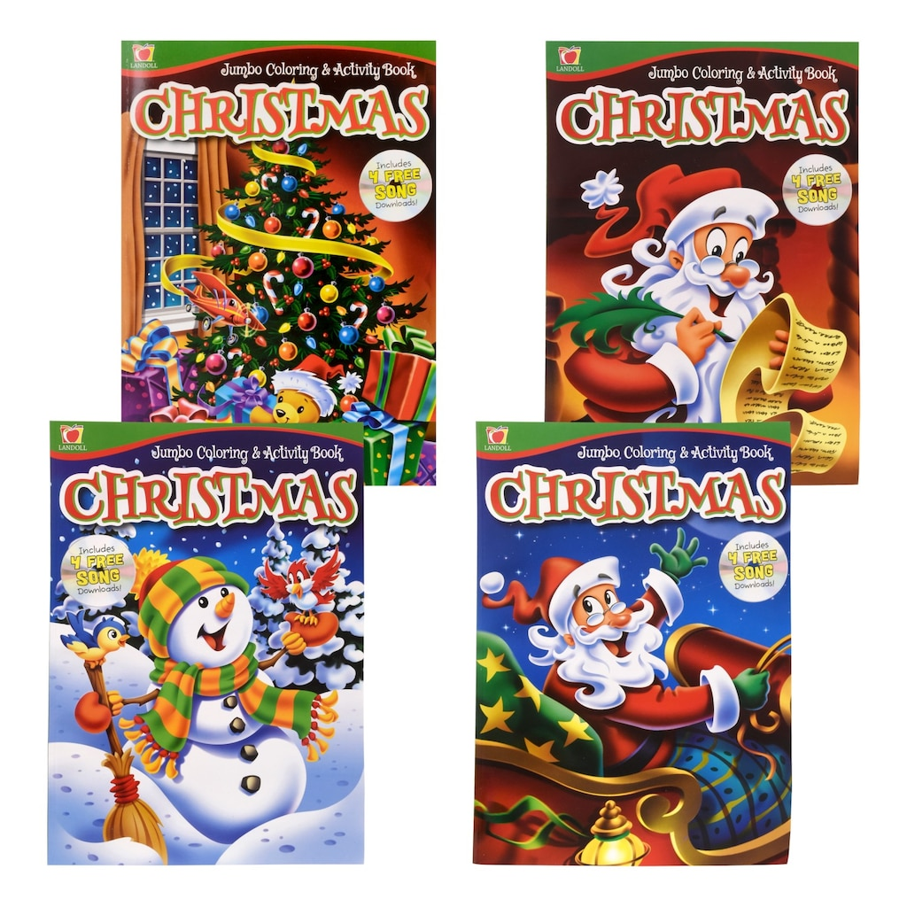 jumbo christmas coloring activity book