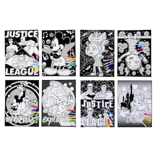 144800 Licensed Character Velvet Coloring Sheets With Mini Markers 11x15 In