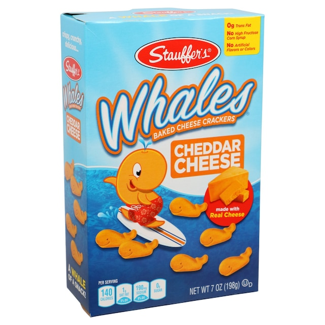 Stauffer's Whales Baked Cheddar Snack Crackers, 7 oz  Boxes
