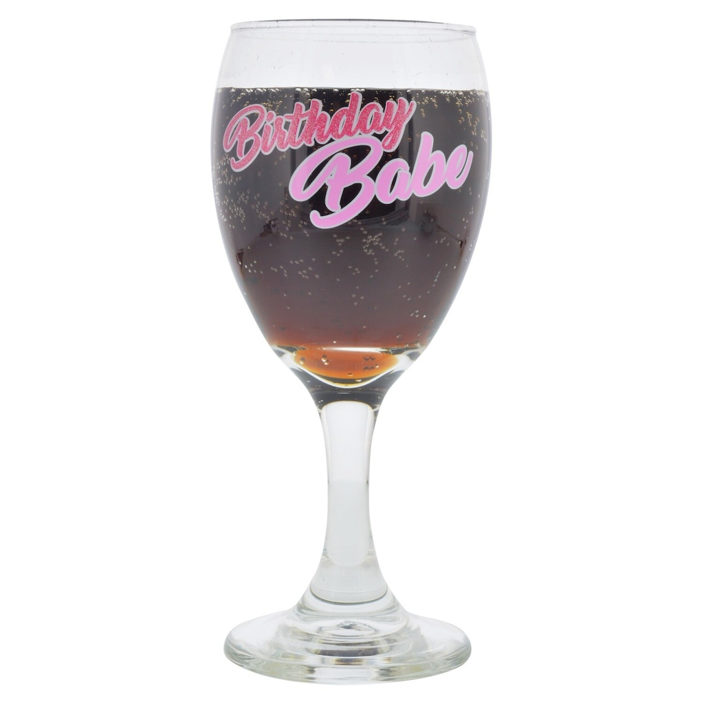 Birthday Clear Wine Gles 10 Oz