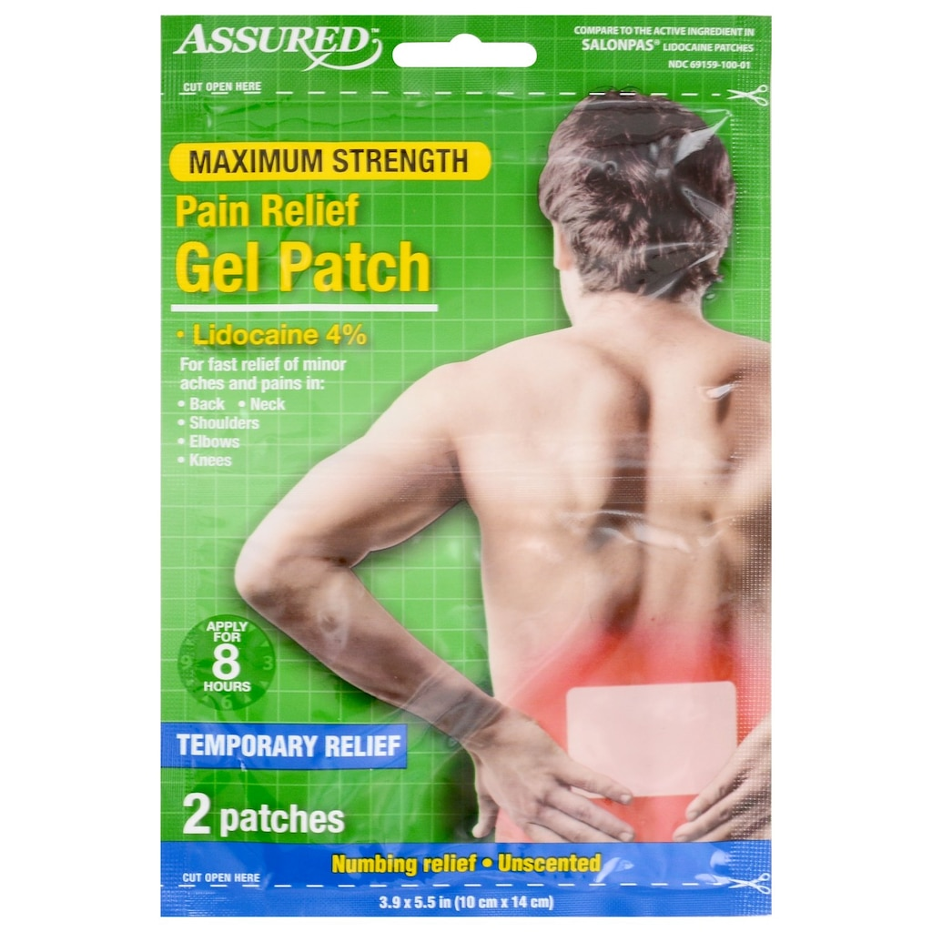 2b6feea0516 Assured Max Pain Relief Gel Patches