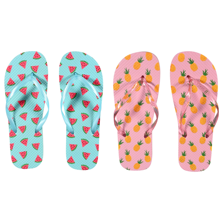 f4acb38d2bd1 Women s Fruit Printed Rubber Flip Flops
