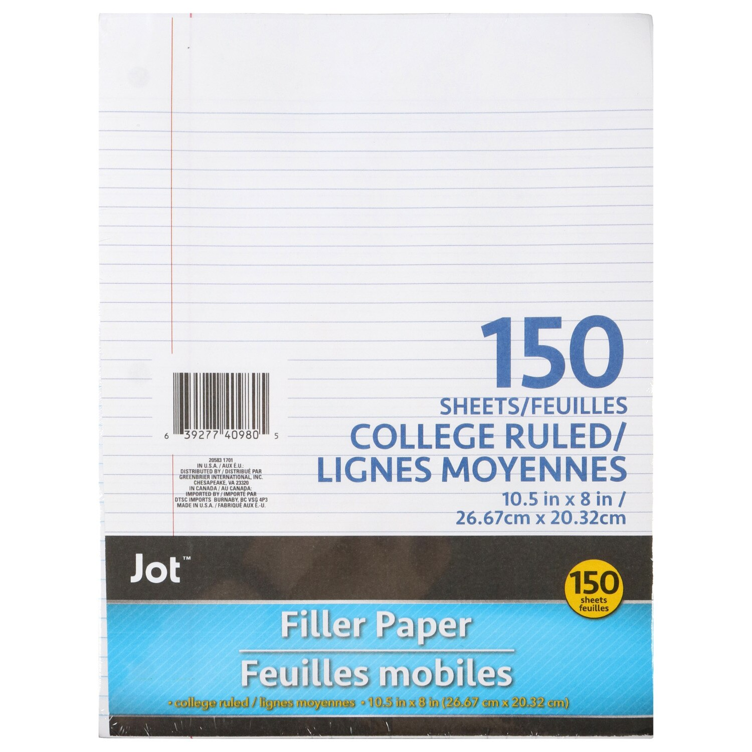 Filler Paper Packs Wide Ruled College Ruled Sheets Kids School Supplies Writing