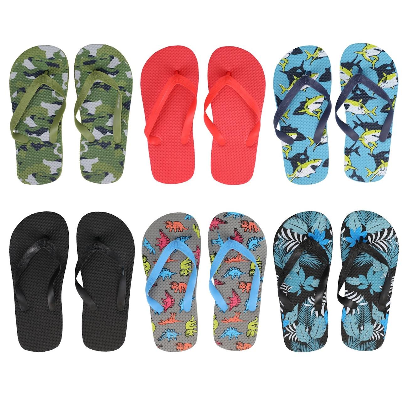 9770a3984 Boy s Summertime Rubber Flip Flops