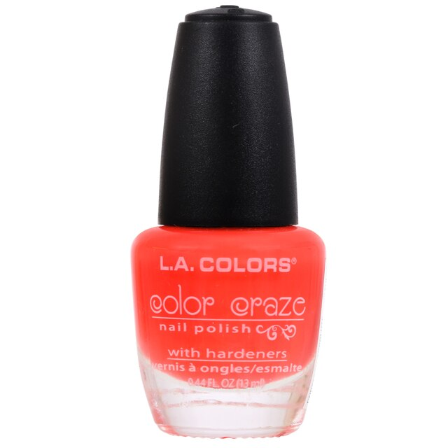 L A Colors Color Craze Absolute Pink Nail Polish 44 Oz