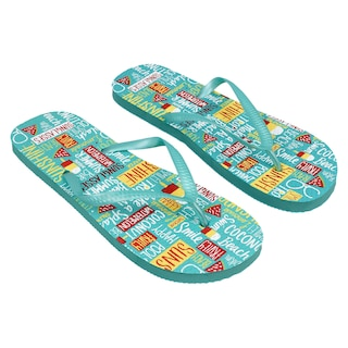 86f6f078feb6 View Ladies  Turquoise Summer Prints Rubber
