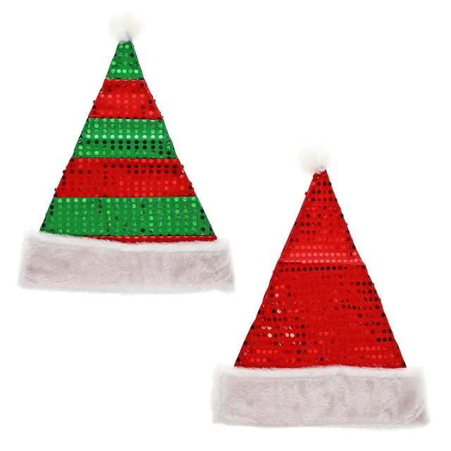 2c6defb528c94 View Christmas House Sequined Polyester Santa