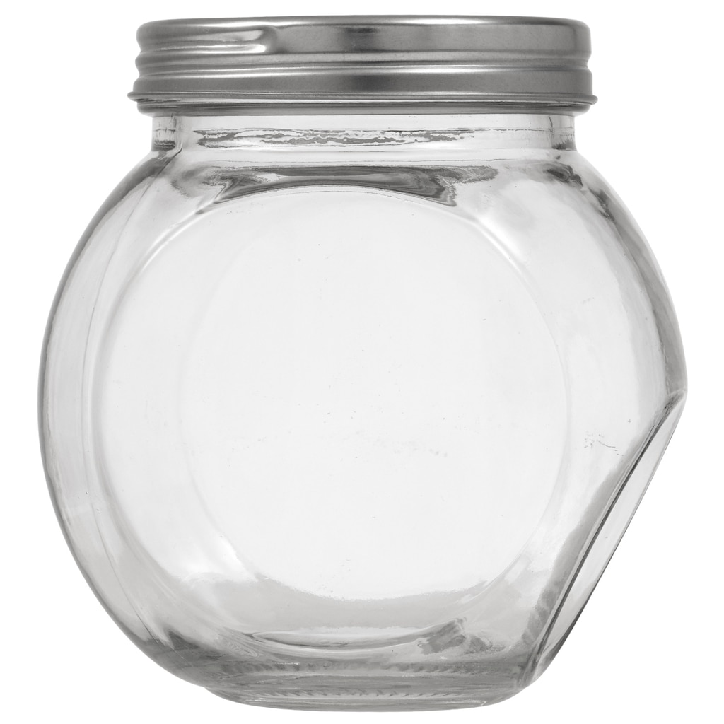 5cb60f9e5e30 Classic Counter Top Glass Cookie Jars with Metal Lids
