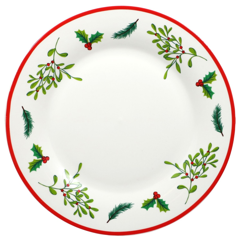holly berry white stoneware dinner plates 105 in