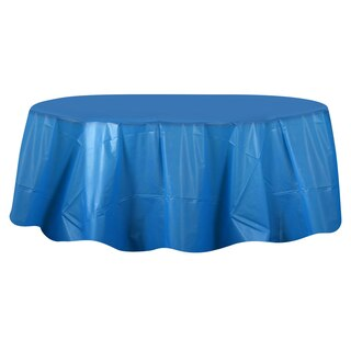 Dollartree Com Round Blue Plastic Table Covers 84 Quot