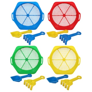 Plastic Sand Sifters, 3-pc. Sets