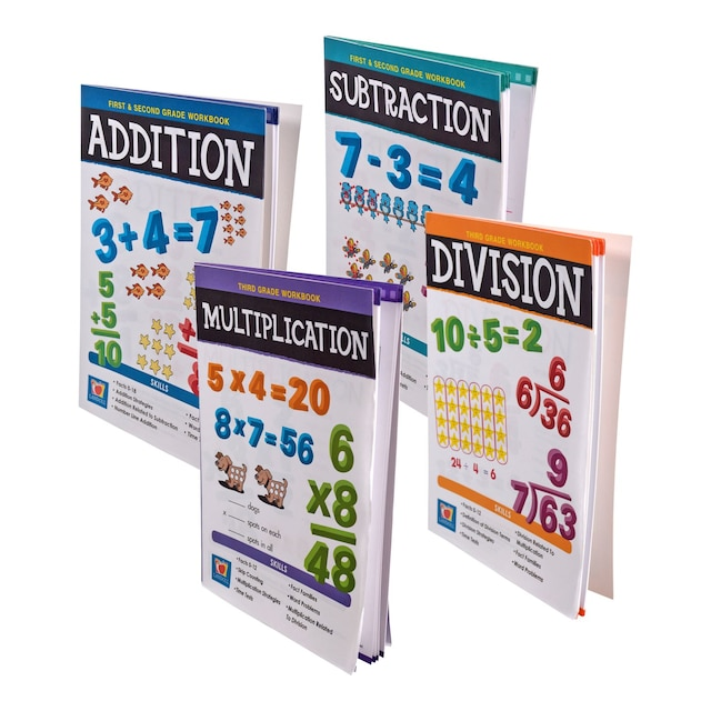 Landoll Common Core 1st, 2nd, and 3rd Grade Math Workbooks, 32 Pages
