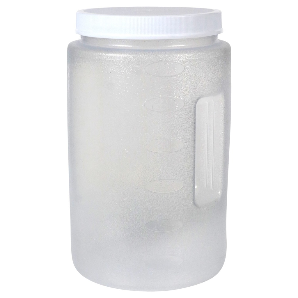Plastic Canisters With Green Twist On Lids 3 Qt