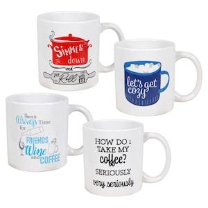 226650 Novelty Ceramic Coffee Mugs 14 Oz