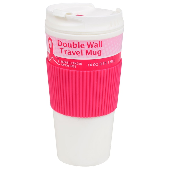 Breast Cancer Awareness Double-Wall Travel Mugs, 16-oz