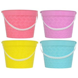 Colorful Plastic Pastel Easter Buckets