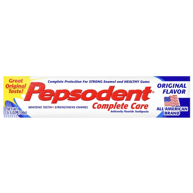 Pepsodent Complete Care Anticavity Fluoride Toothpaste, 5 5-oz  Tubes