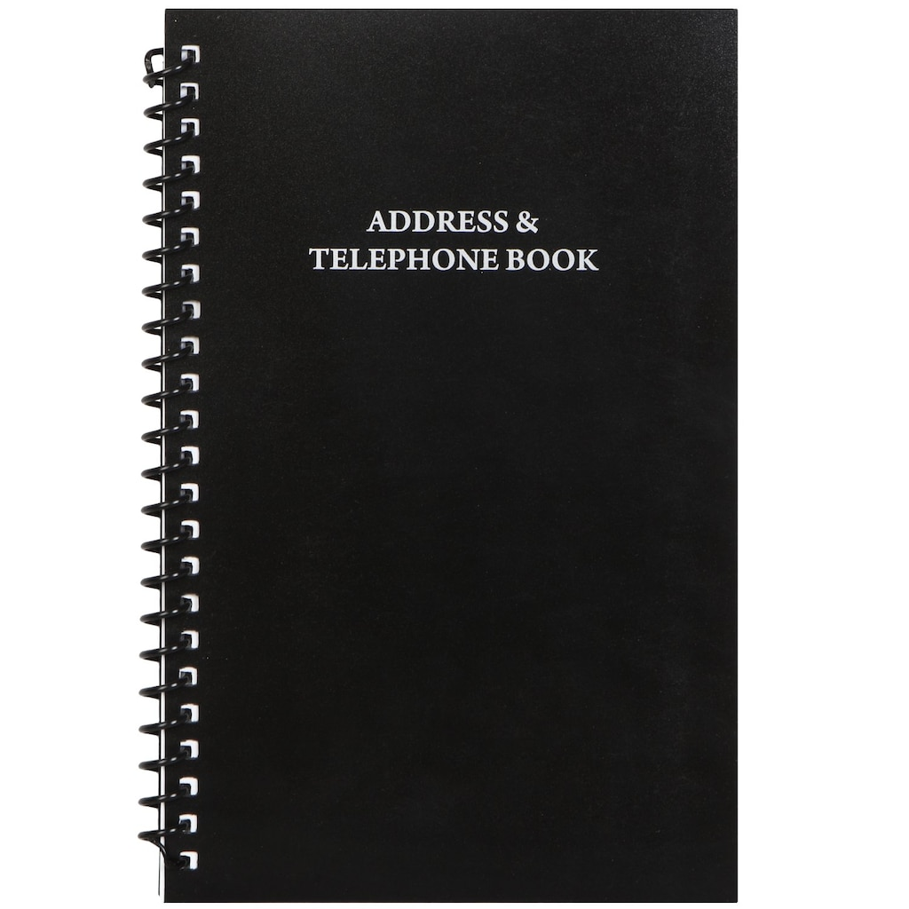 37b81a2936b Pocket Address Books with Black Vinyl Covers