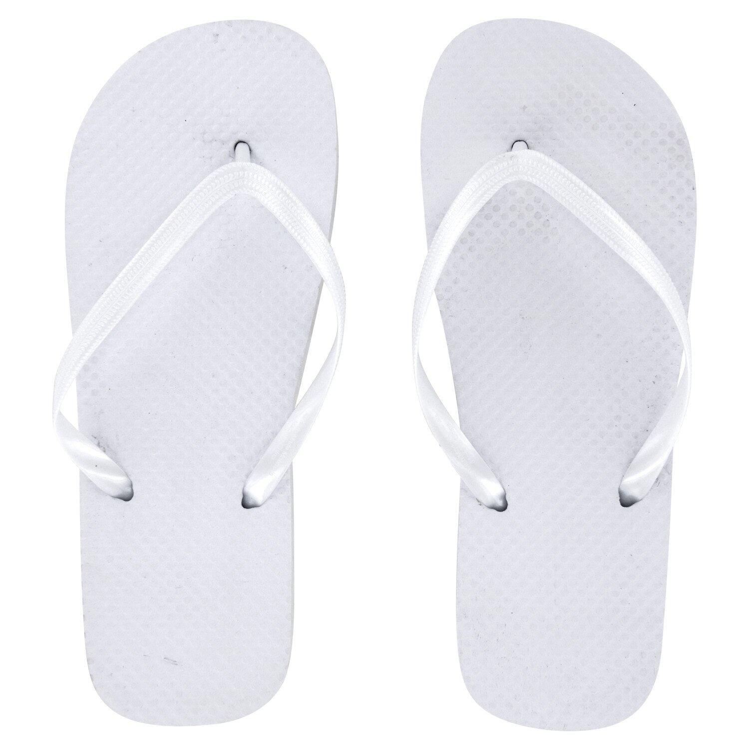 ef218dcde9a2 Ladies  Solid White Rubber Flip-Flops