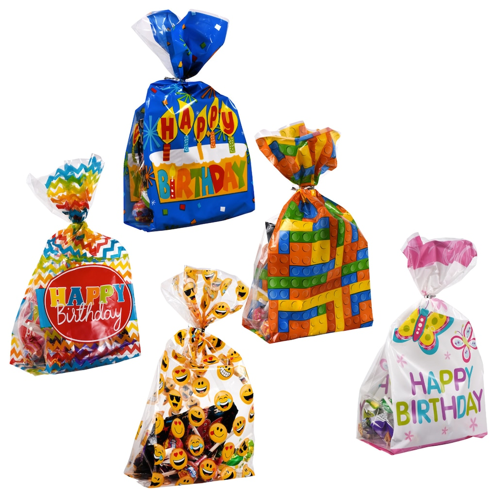2f50321c57939 Cellophane Loot Bags for Boys and Girls