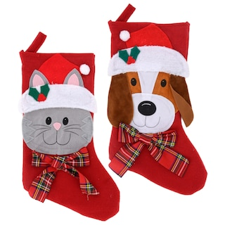 View Christmas House Pet Stockings, 18 in.
