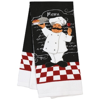 Bulk Home Collection Chef Themed Kitchen Towels 15x25 In Dollar Tree