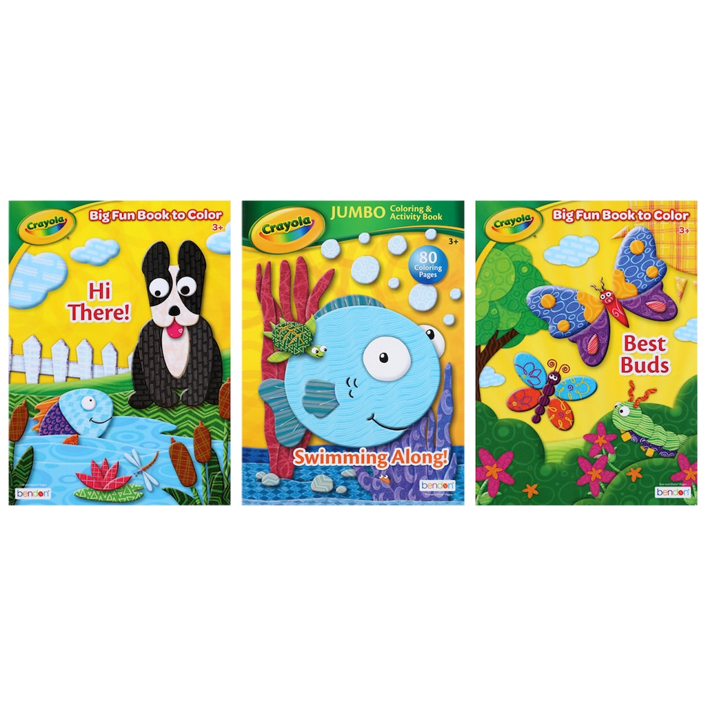 crayola assorted jumbo 96 pg coloring books