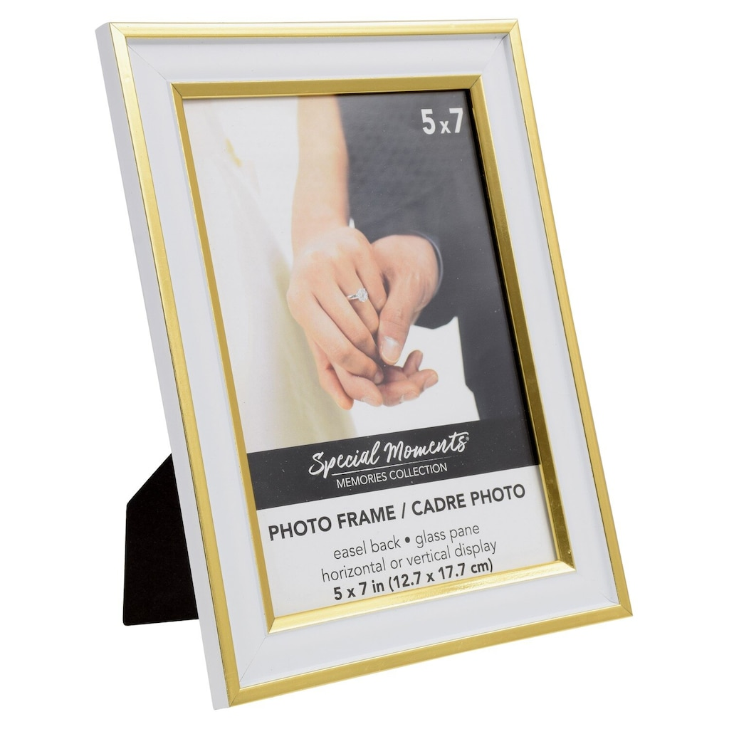 b059c6115de8 Special Moments White and Gold Plastic Wedding Frames