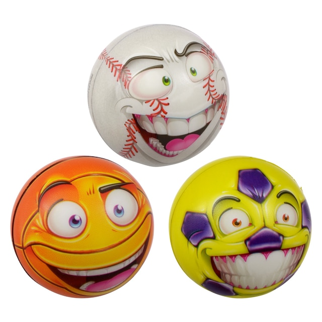 Funny Face Foam Stress Balls, 3 in