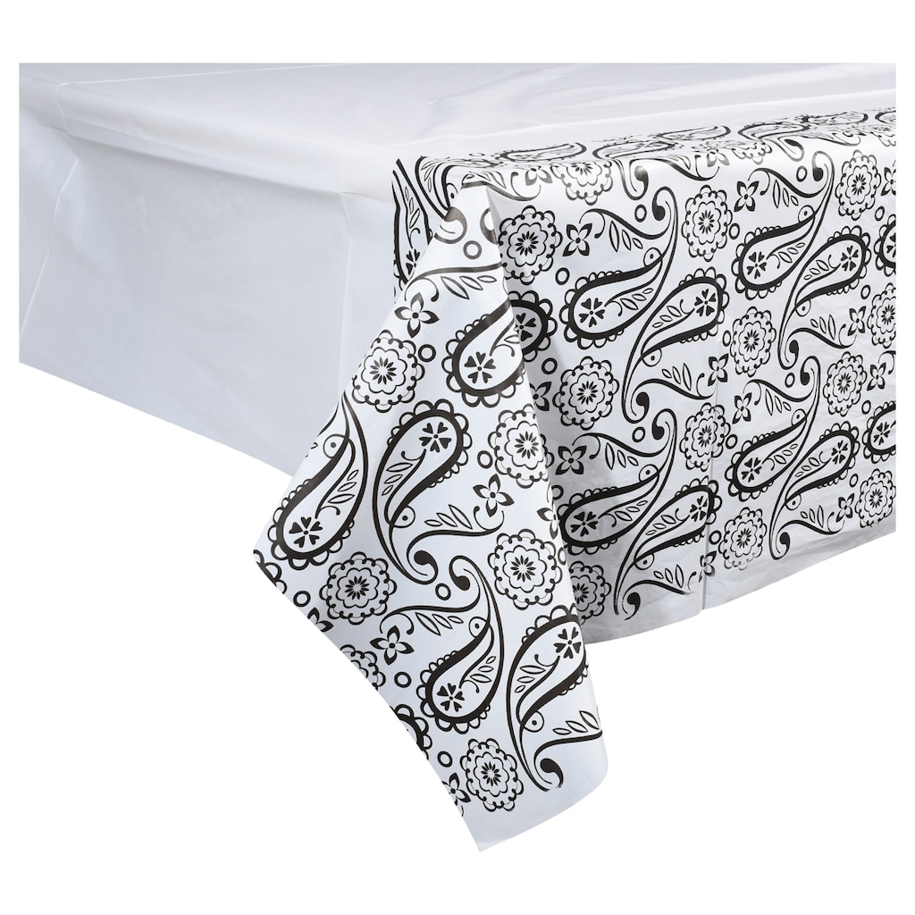 Black White Paisley Table Covers