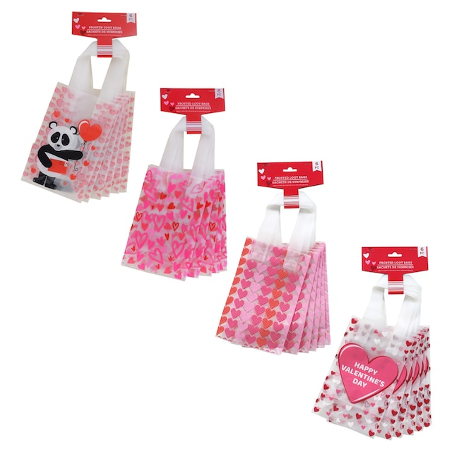 Dollartree Com Bulk Frosted Valentine Loot Bags 6 Ct Packs