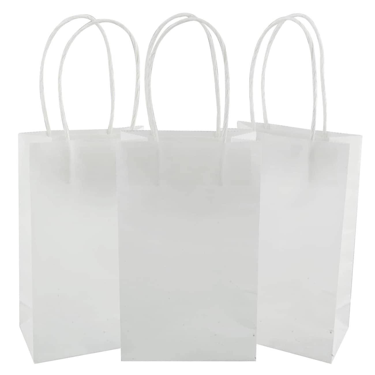 8557abd7ac Small White Kraft Paper Gift Bags