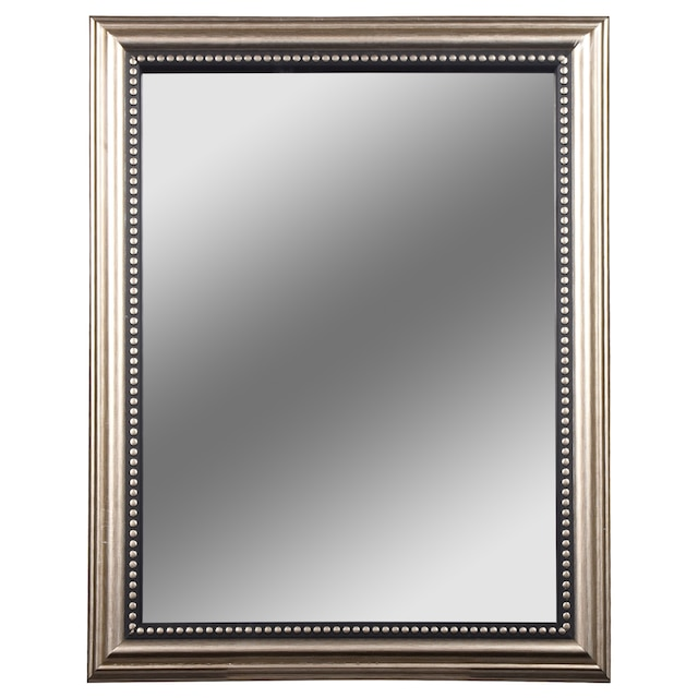 Accent Mirrors With Silver Plastic Frames 8x10 In