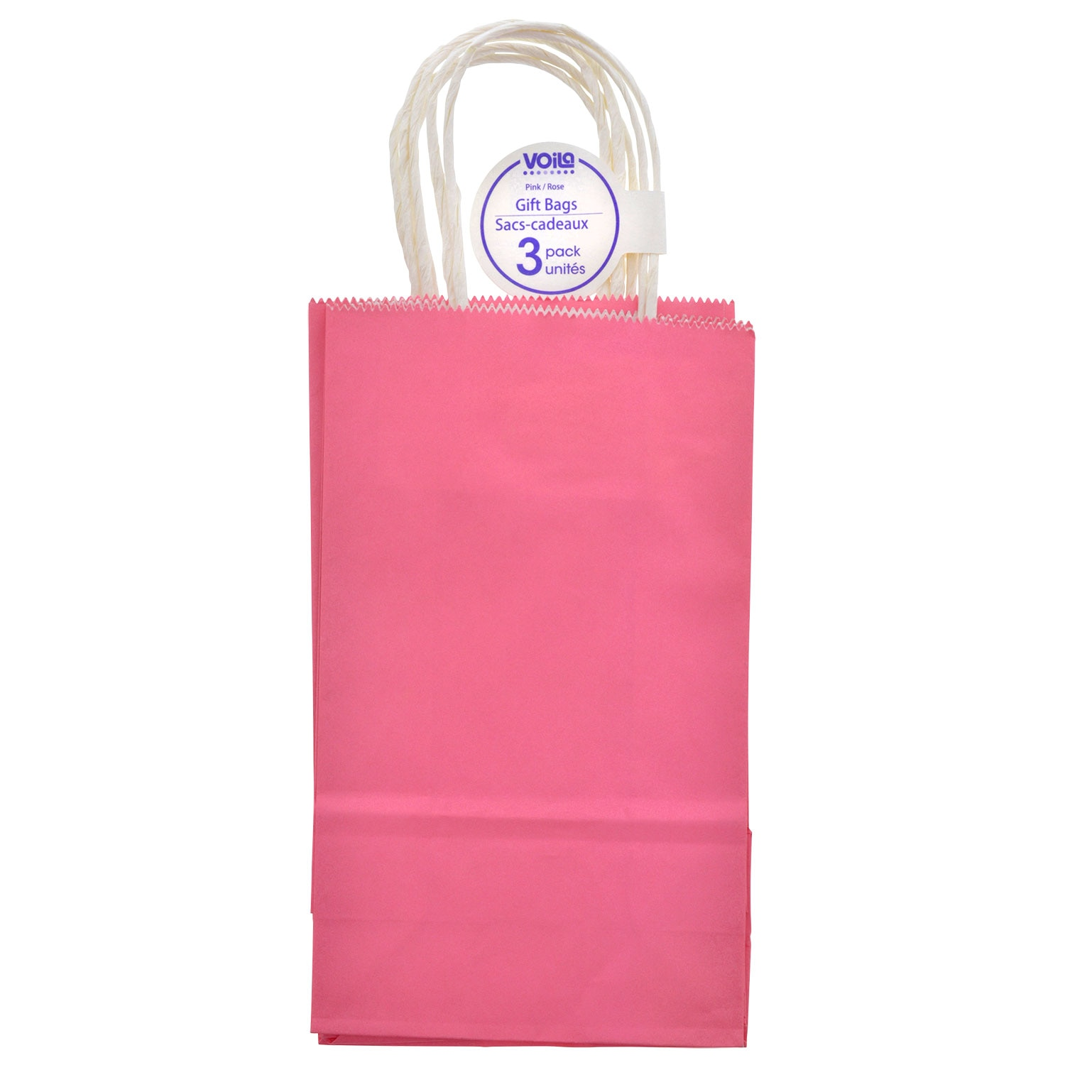 fbe3a58716f3a Pink Kraft Paper Gift Bags