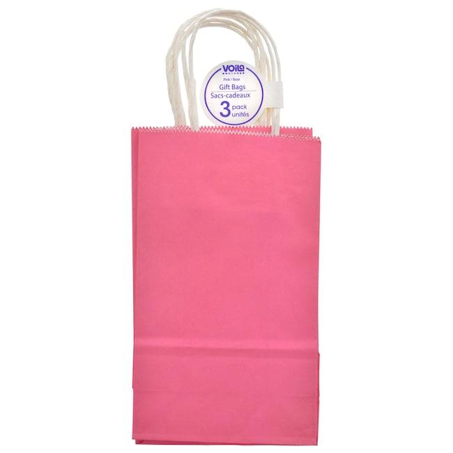 Dollartree Pink Kraft Paper Gift Bags 3 Ct Packs