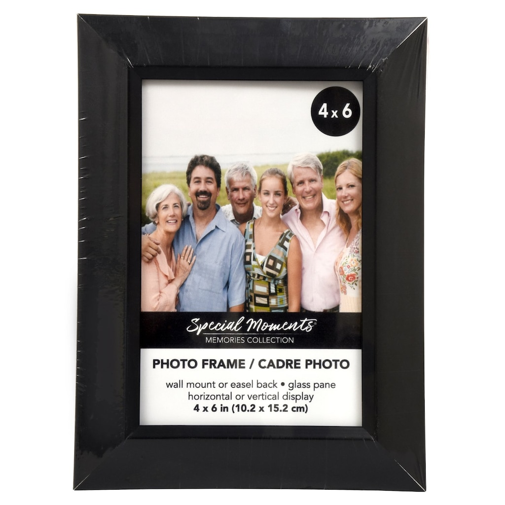 ff3b4123934 Special Moments Embossed Wide-Edge Black Plastic Picture Frames