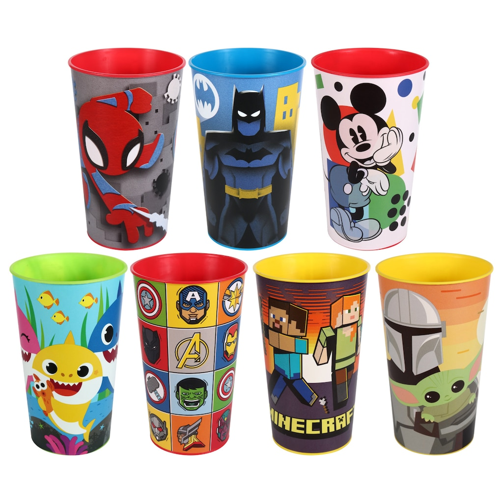 Five Assorted Licensed Character Cups, 22 oz.