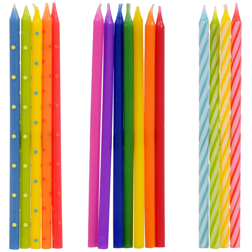 Tall Birthday Candles 14 In Packs